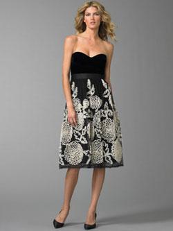 sort vhit kjole