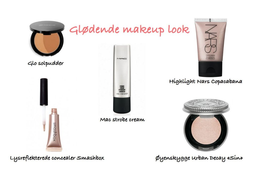 glødende makeup look